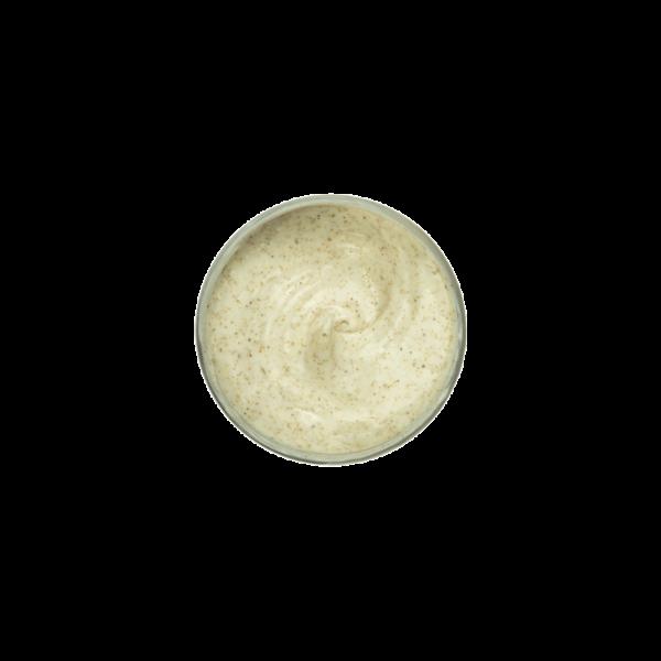 scrub_viso_con_con_miele_zafferano_e_olio_di_canapa_texture_buyme_cosmetics